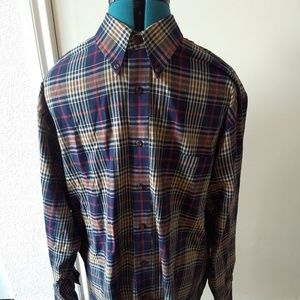 Pendleton Mens Canterbury Cloth Button Down Plaid